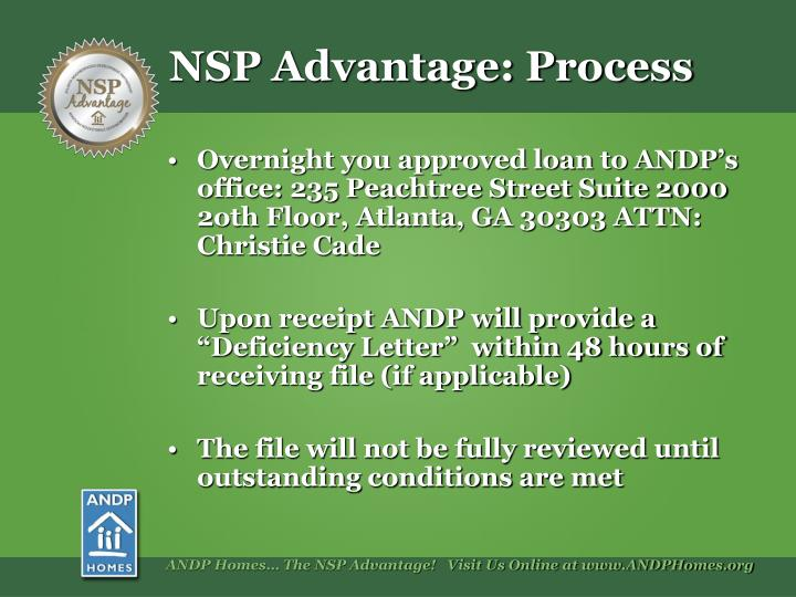 Overnight you approved loan to ANDP's office: 235 Peachtree Street Suite 2000      2oth Floor, Atlanta, GA 30303 ATTN: Christie Cade