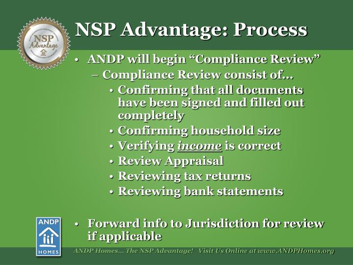 "ANDP will begin ""Compliance Review"""