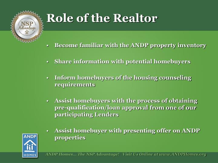 Role of the Realtor
