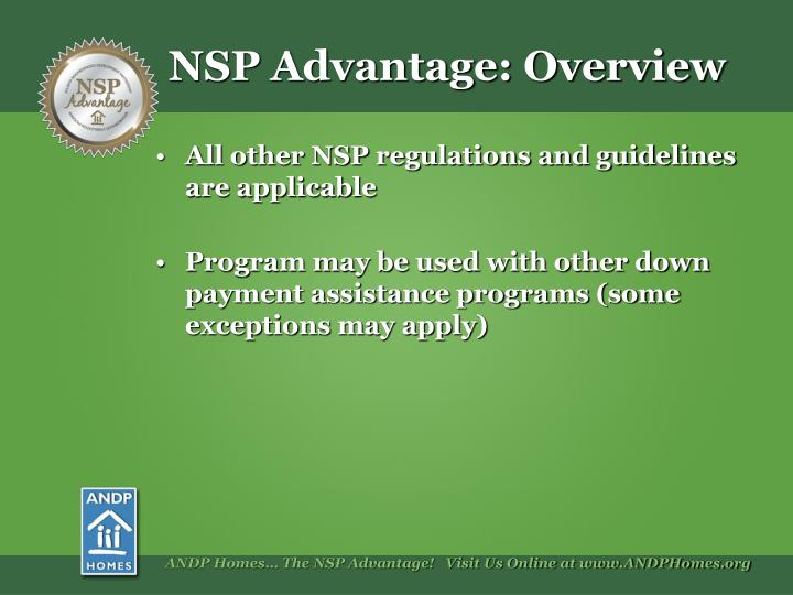 NSP Advantage: Overview