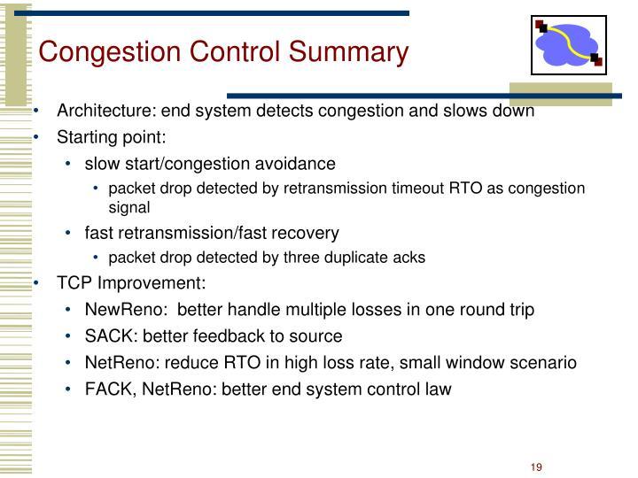 Congestion Control Summary
