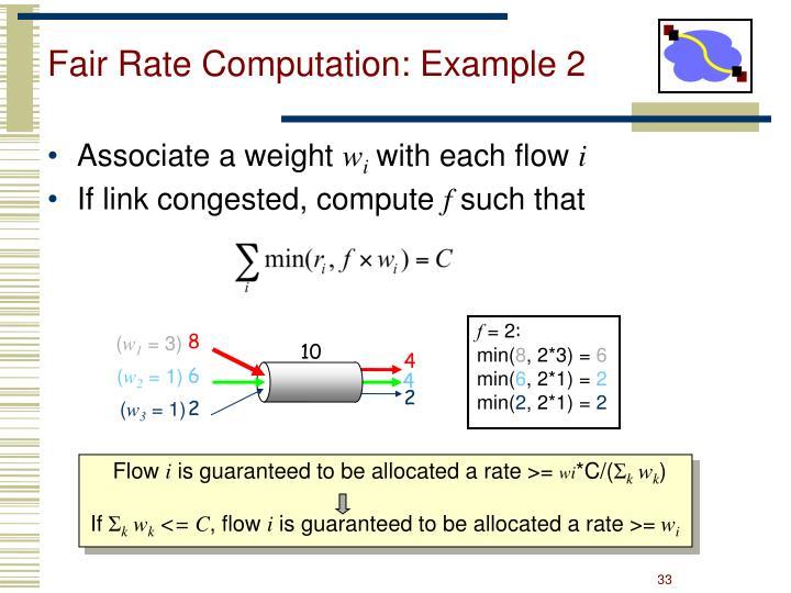 Fair Rate Computation: Example 2