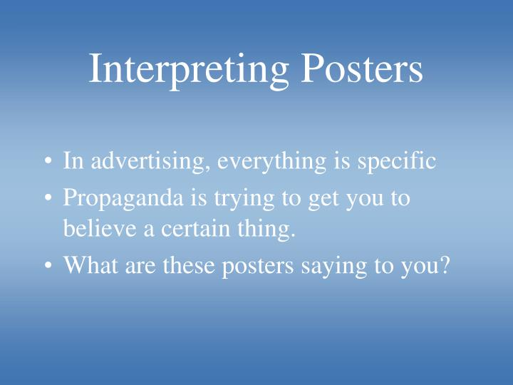 Interpreting Posters