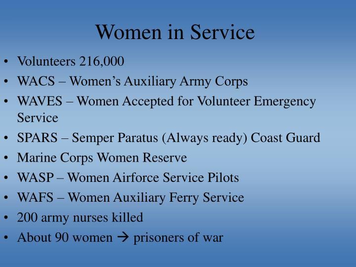 Women in Service