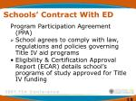 schools contract with ed
