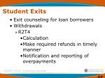 student exits