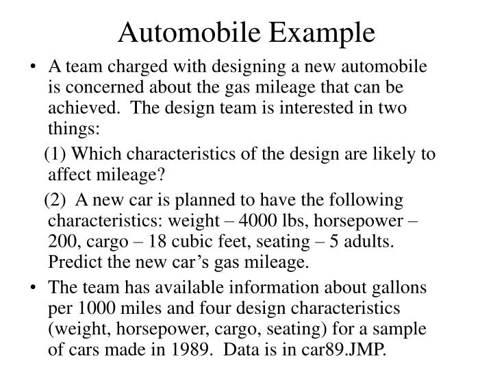 Automobile example