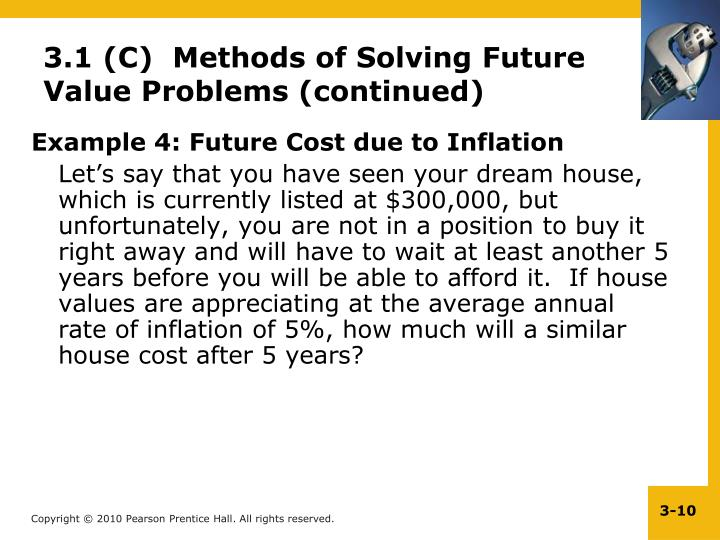 Example 4: Future Cost due to Inflation