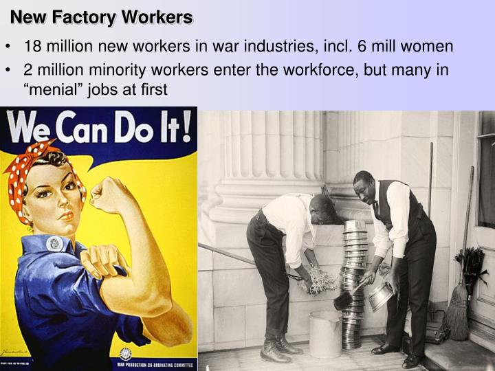 New Factory Workers