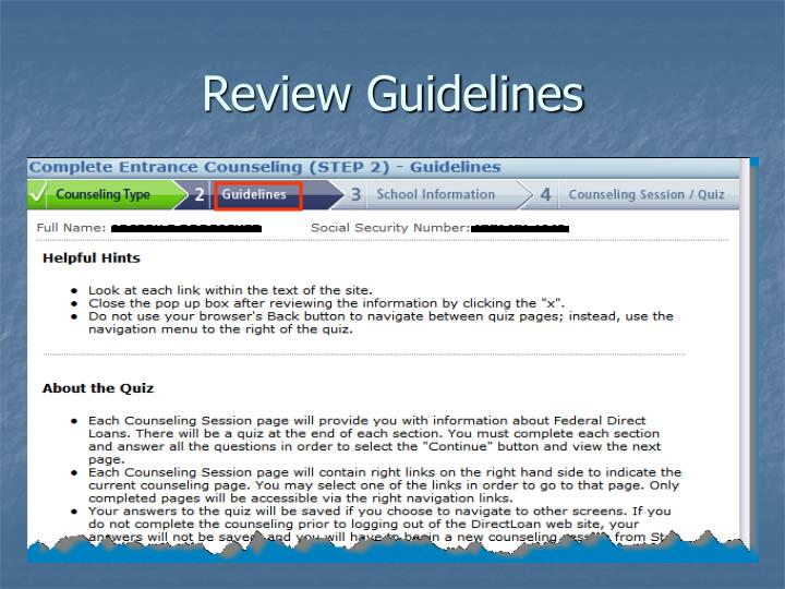 Review Guidelines