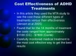 cost effectiveness of adhd treatments