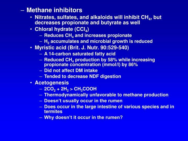 Methane inhibitors