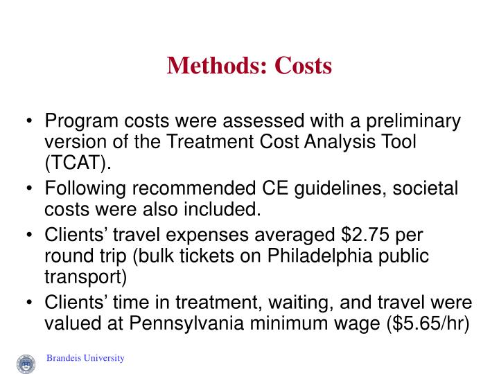 Methods: Costs