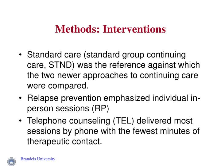 Methods: Interventions
