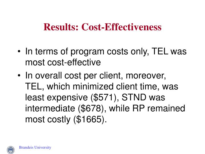 Results: Cost-Effectiveness