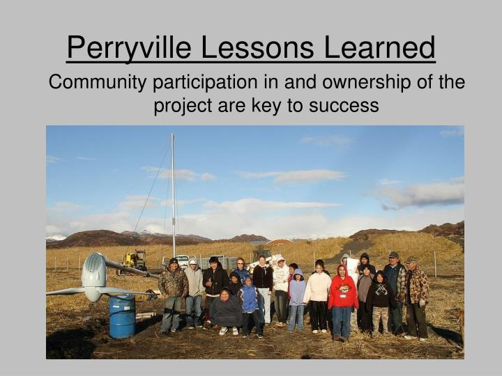 Perryville Lessons Learned
