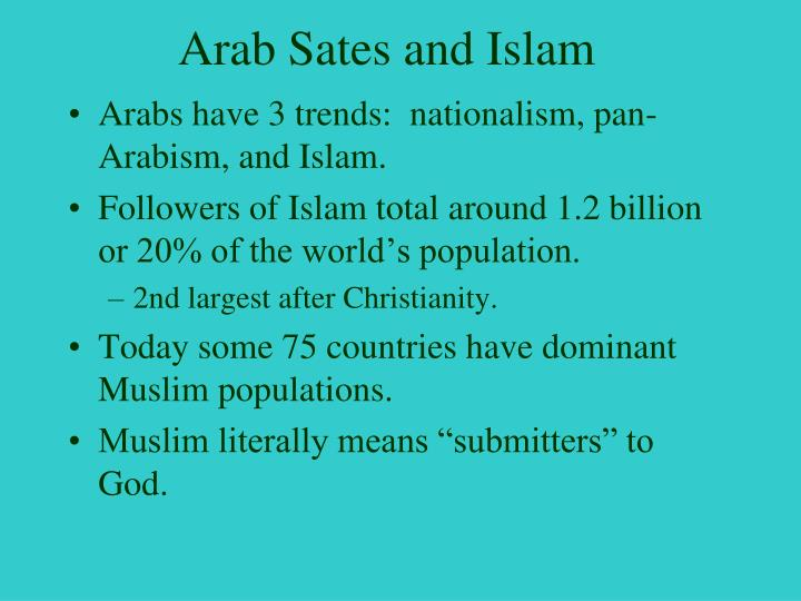 Arab Sates and Islam