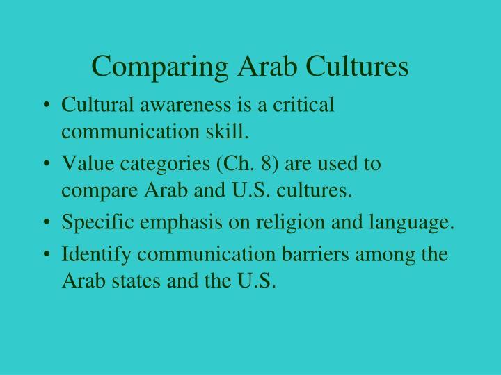 Comparing Arab Cultures