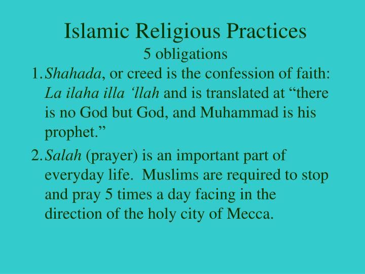 Islamic Religious Practices