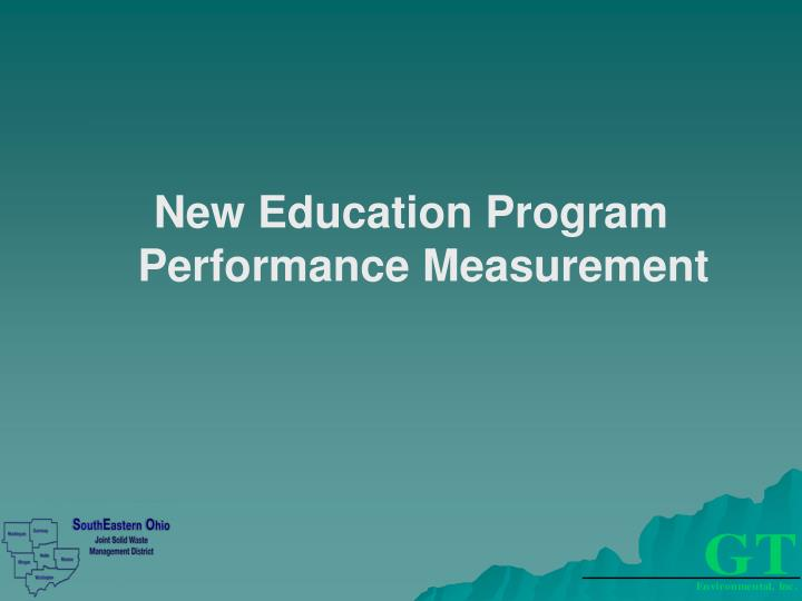 New Education Program Performance Measurement