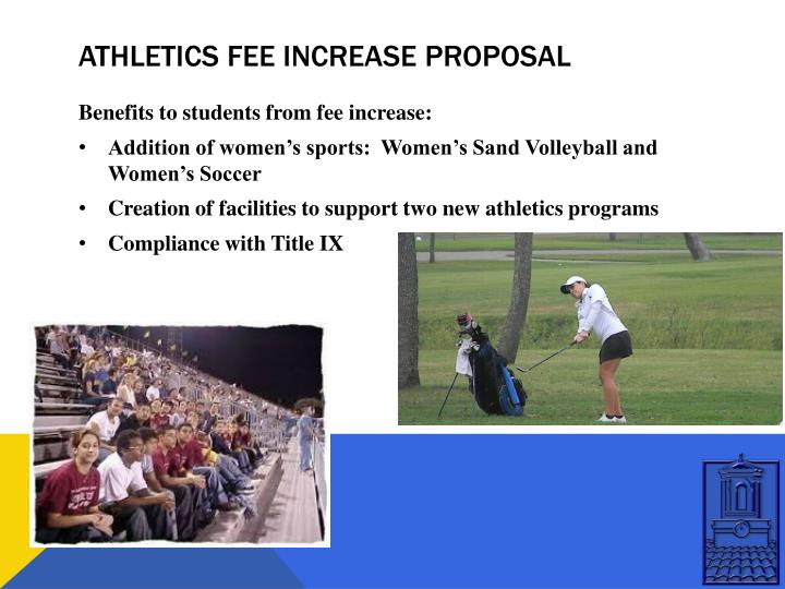 Athletics fee increase proposal