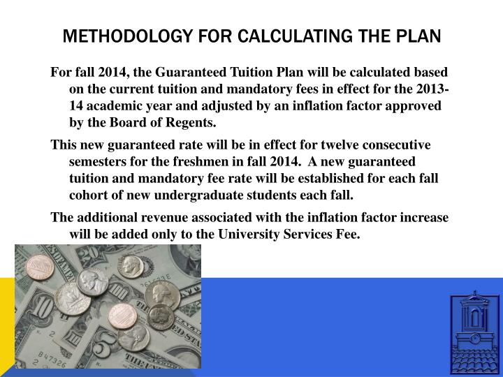 Methodology for calculating the plan