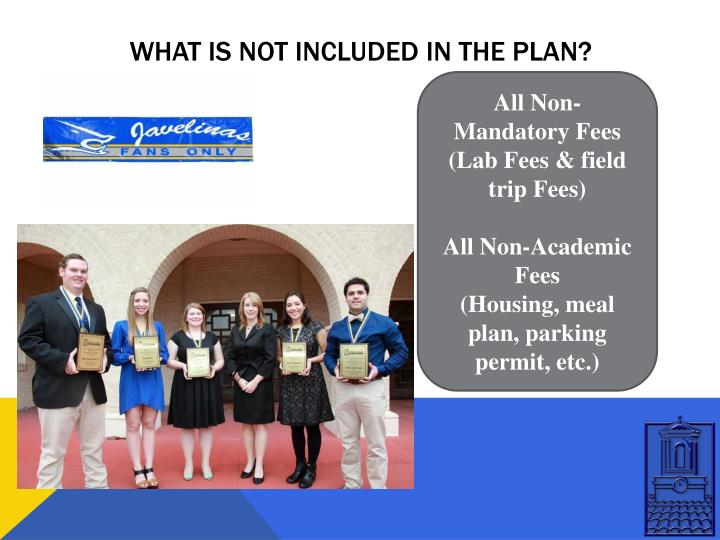 WHAT IS NOT INCLUDED IN THE PLAN?