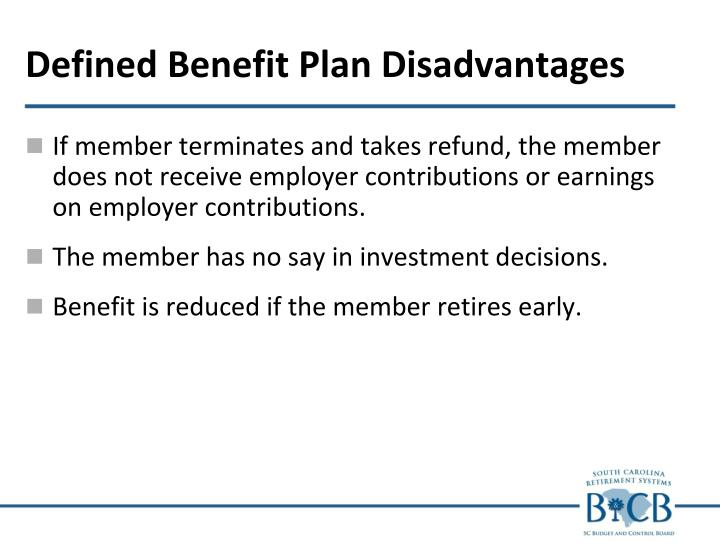 Defined Benefit Plan Disadvantages