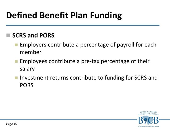 Defined Benefit Plan Funding