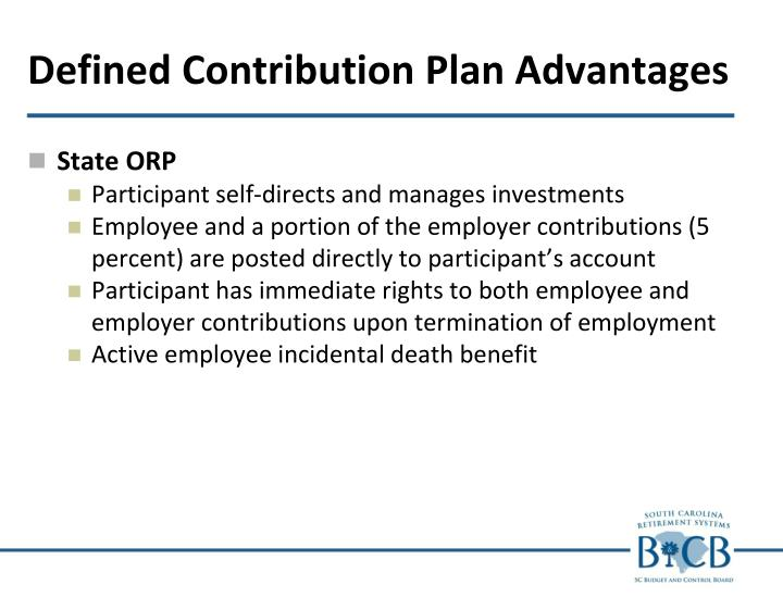 Defined Contribution Plan Advantages