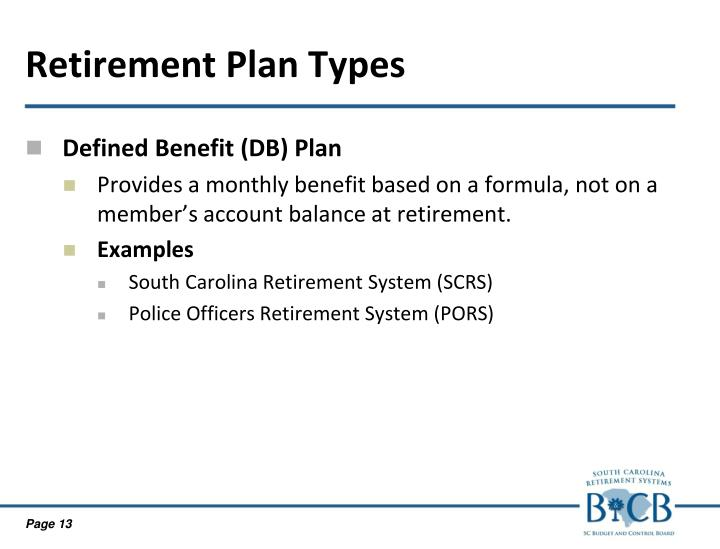 Retirement Plan Types