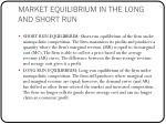 market equilibrium in the long and short run1