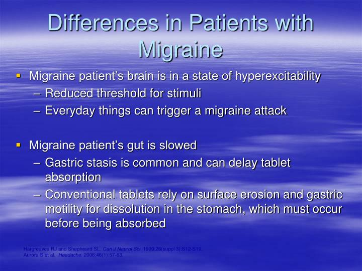 Differences in Patients with Migraine