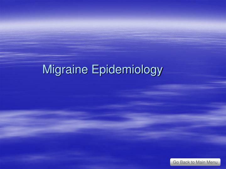 Migraine Epidemiology