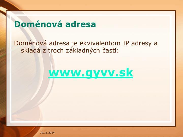 Doménová adresa