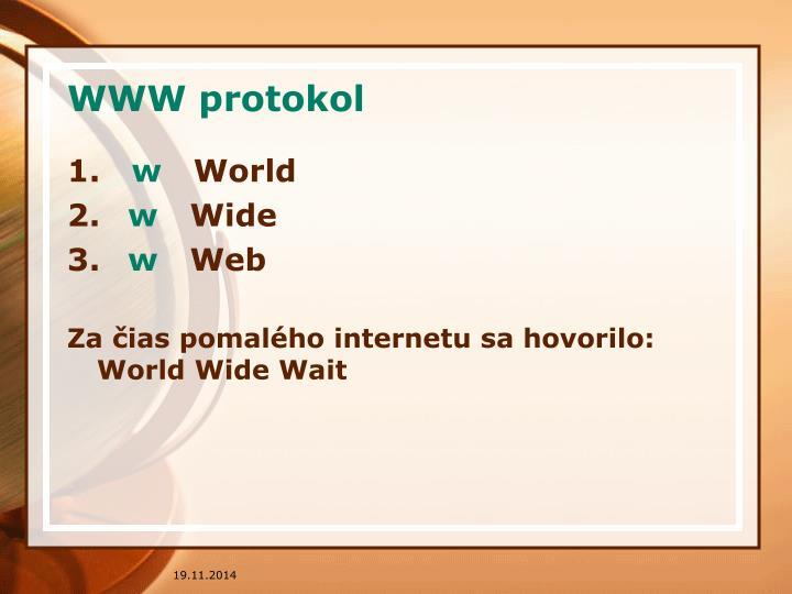 WWW protokol