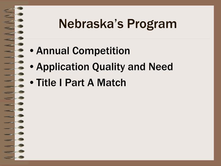 Nebraska's Program