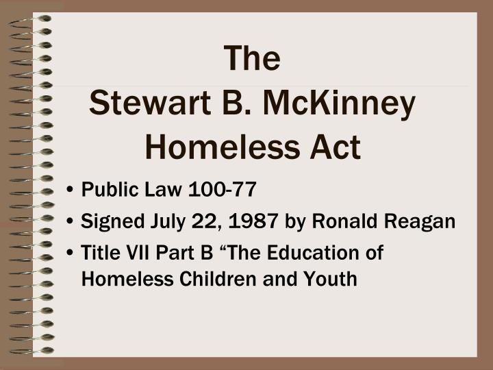 The stewart b mckinney homeless act