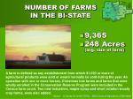 number of farms in the bi state