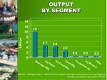 output by segment