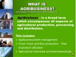 what is agribusiness according to the agribusiness council of america