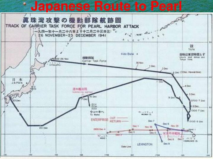 Japanese Route to Pearl