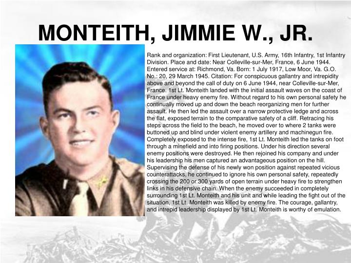 MONTEITH, JIMMIE W., JR.