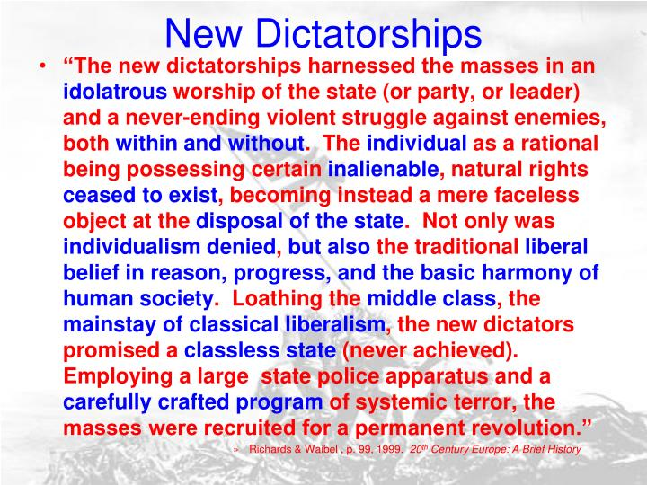 New dictatorships