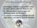 2009 recovery act funding