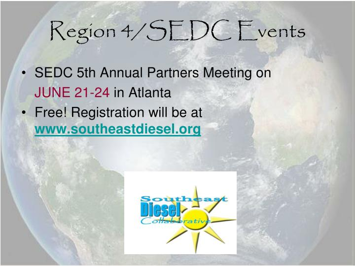 Region 4/SEDC Events