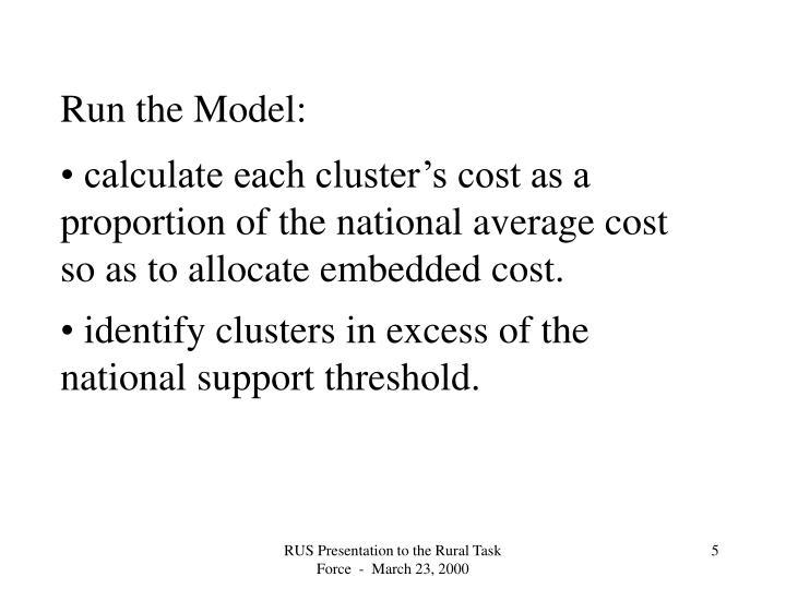 Run the Model: