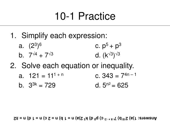 10-1 Practice