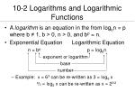 10 2 logarithms and logarithmic functions