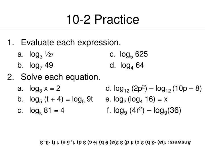 10-2 Practice